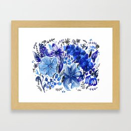 Blue flowers galore Framed Art Print
