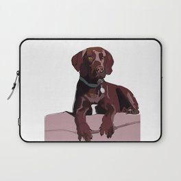 Chocolate Labrador Laptop Sleeve