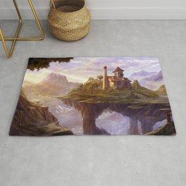 Gorgeous Cute Fantasy Teddy Bears House On Edge Of Cliff Dreamland Ultra HD Rug