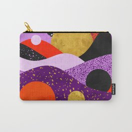 Terrazzo galaxy purple orange gold Carry-All Pouch
