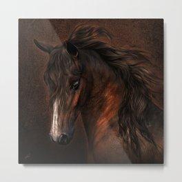 Horse with romantic look Metal Print