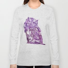 purple owl Long Sleeve T-shirt