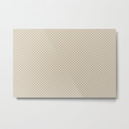 Blue & Beige Angled Grid Line Pattern Pairs To 2020 Color of the Year Chinese Porcelain PPG1160-6 Metal Print