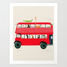 The big red bus Art Print