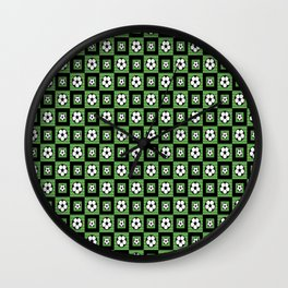 Soccer Motif Pattern Wall Clock
