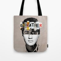 godfather Tote Bags featuring Godfather Mix 2 white by Marko Köppe