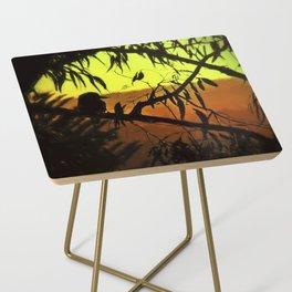 Kookaburra Silhouette Sunset Side Table