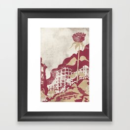 The Militancy Of A Flower Framed Art Print