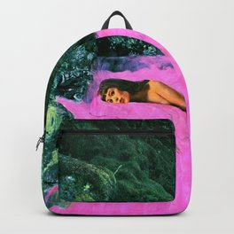 WOMAN IN PINK WATER Backpack