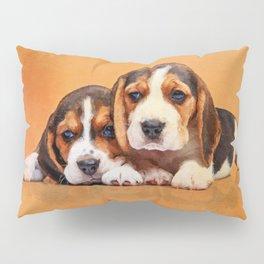 Cute Beagle puppies Pillow Sham