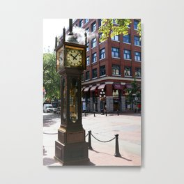 Gastown Steam Clock - Vancouver Metal Print