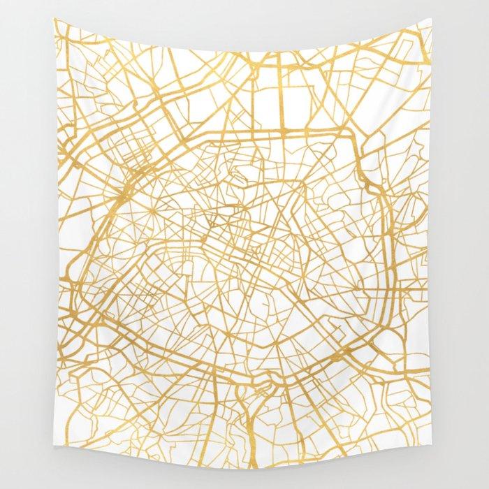 paris france city street map art wall tapestry