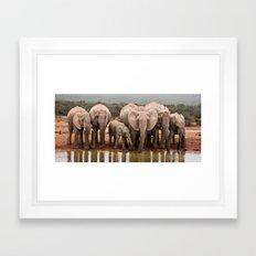 African Elephants Framed Art Print