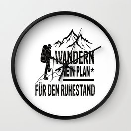 Hiking Is My Plan For Retirement Wall Clock