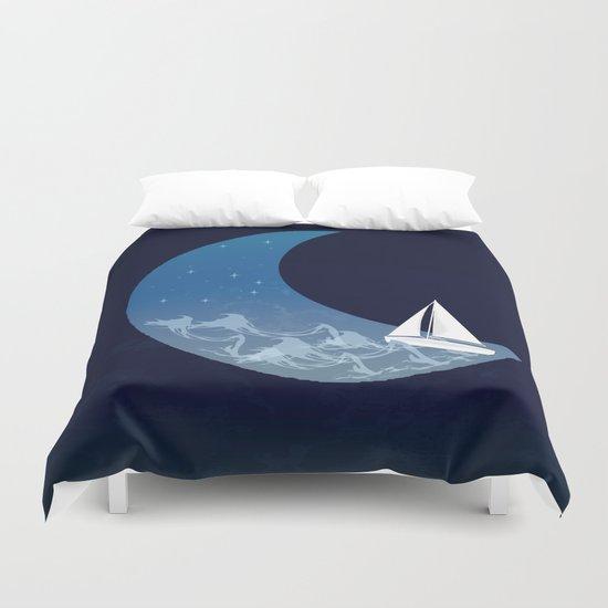 Moon Sailing Duvet Cover