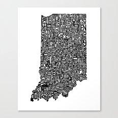 Typographic Indiana Canvas Print