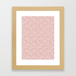 Cats pattern Framed Art Print