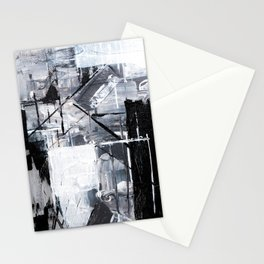 Black & White Abstract Painting Stationery Cards