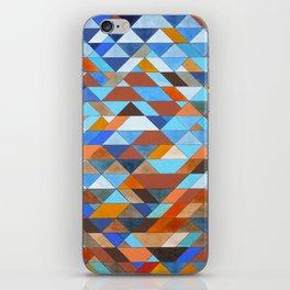 Triangle Pattern no.18 blue and orange iPhone Skin