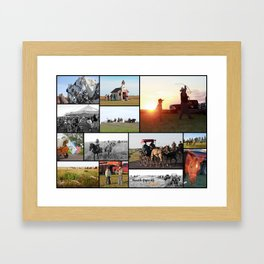 Trail Ride Collage 2014 Framed Art Print