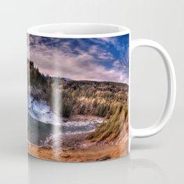 Waterfall from sky view Coffee Mug