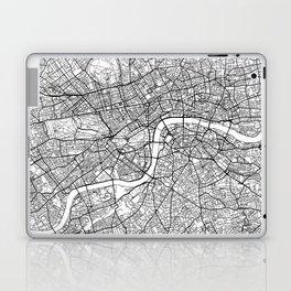 London Map White Laptop & iPad Skin