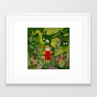 jungle Framed Art Prints featuring jungle by Bunny Noir