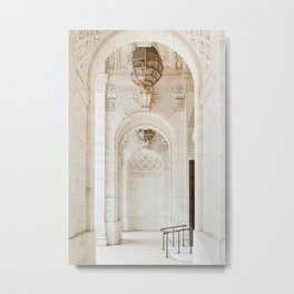 At the New York City Library Metal Print