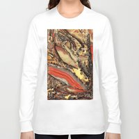 minerals Long Sleeve T-shirts featuring Colorful Gemstone I by Kristiana Art Prints