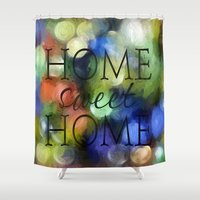 home sweet home Shower Curtains featuring Home Sweet Home by ThePhotoGuyDarren
