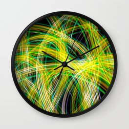 Lightpainted Colors Wall Clock