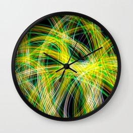 Lightpainted Colors Wall Clock