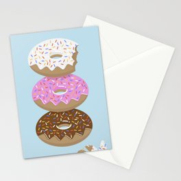 Triple Treat! Iced Doughnuts Stationery Cards