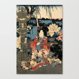Garden of the Prosperous Blooms Triptych 1 Canvas Print