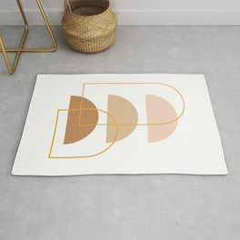 Half Moon Geometric Arch Stack Line Art Drawing Abstract Minimal Lines Design Rug