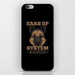 German Shepherd Tshirt I Schäferhund dog iPhone Skin