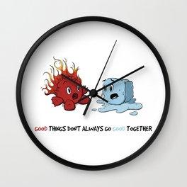 Fire & Ice by dana alfonso Wall Clock