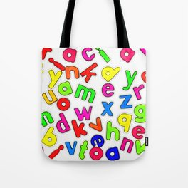 Jumbled up Multi Coloured Letters Tote Bag