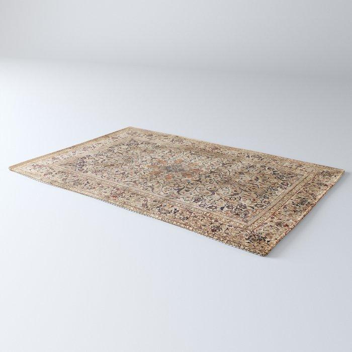 Silk Esfahan Persian Carpet Print Rug