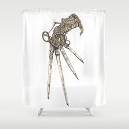 Scissorhands (Sepia-L) Shower Curtain