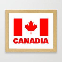 Canadia - Canadan Flag Framed Art Print