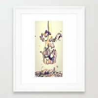 hug Framed Art Prints featuring HUG by AMULET