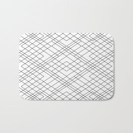 Black and White Circuit Bath Mat