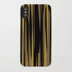 Yellow tan and black abstract iPhone X Slim Case