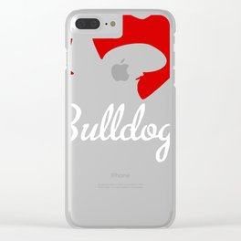 I Love Bulldogs Clear iPhone Case