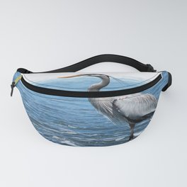 Great Blue Heron on the Pacific Coast in Costa Rica Fanny Pack