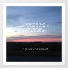 Queen of Peace lyric Art Print