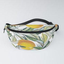 Lemon and Leaf Pattern VI Fanny Pack