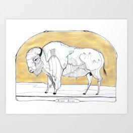 Bison Bison Art Print