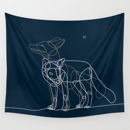 Fox line Wall Tapestry